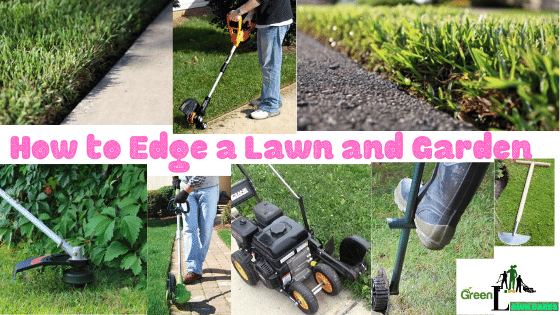 How to Edge a Lawn and Garden