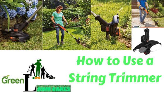 how to use a string trimmer