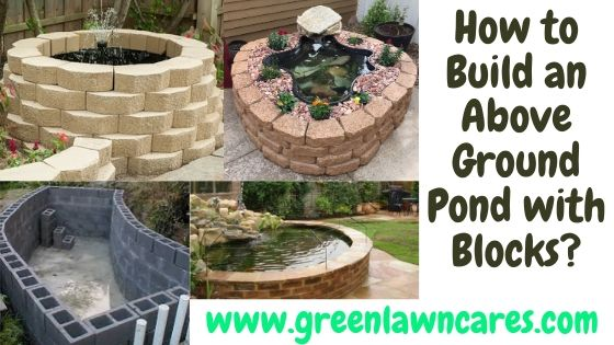 How to Build an Above Ground Pond with Blocks
