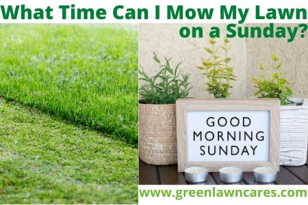 What Time Can I Mow My Lawn on a Sunday