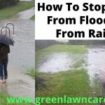 how to stop yard flooding from rain