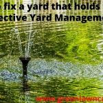 How to fix a yard that holds water